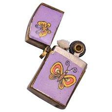 Small Cigarette Lighter Charm 1960's Flower Power