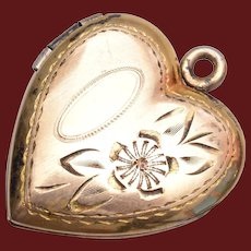 Gold Filled Locket Charm or Pendant
