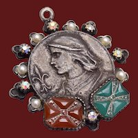 ART Joan of Arc Charm, Fob or Pendant