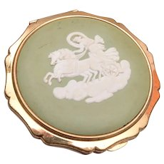 Stratton Wedgwood Cameo Compact Made in England