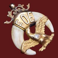 FOE Gold Filled Watch Fob - Fraternal Order of Eagles