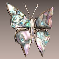 Abalone Shell Butterfly Brooch