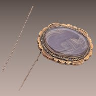 10kt gold Mourning Hair Brooch