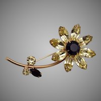 Regency Daisy Flower Brooch