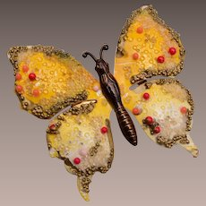 Made in Germany Enameled Butterfly Brooch