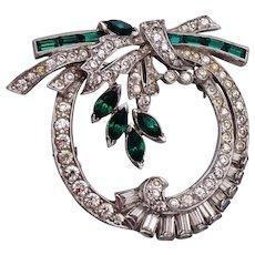 Green Brooch or Pendant