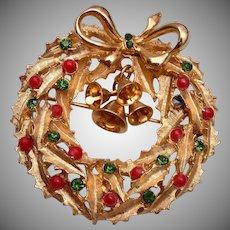 ART Christmas Wreath With Bells