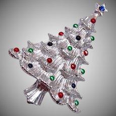 Gerry's Silver Christmas Tree Brooch