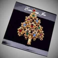 Eisenberg Christmas Tree Brooch