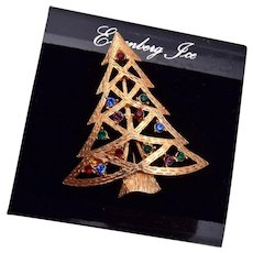 Eisenberg Ice Colorful Christmas Tree Brooch