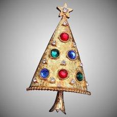 Eisenberg Ice Colorful Christmas Tree Brooch