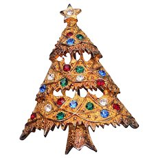 Eisenberg Ice Christmas Tree Brooch