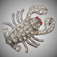 Pot Metal Lobster Brooch