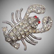 Pot Metal Lobster Brooch