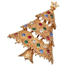 Eisenberg Ice Christmas Tree Brooch