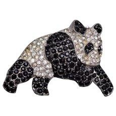 Pot Metal Panda Bear Brooch - Patent Applied For