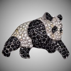 Pot Metal Panda Bear Brooch - Patent Applied For