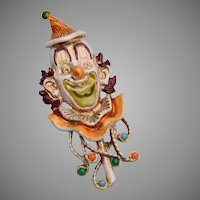 Florenza Clown Brooch