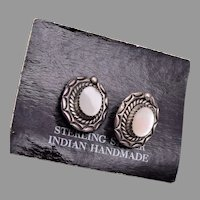 Sterling Hand Made Indian Pierced Earrings