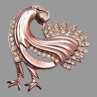 Beautiful Sterling Peacock Brooch