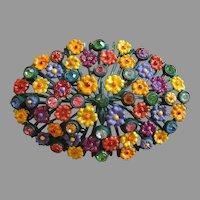 Fall Colors - Mums - Flower Brooch