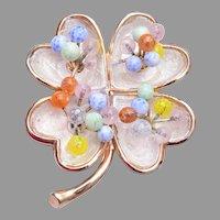 Kramer Enamel Flower with Glass Stamens