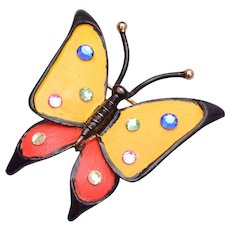 Monet Butterfly with Rhinestone Wings