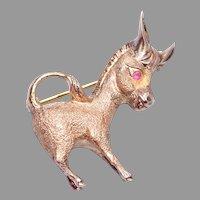 Sterling Danecraft Donkey Brooch