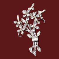 Trifari Patent Pending Bouquet of Flowers Brooch