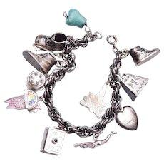 14 Charm Sterling Charm Bracelet