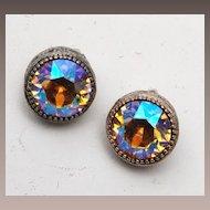 AB Topaz Rhinestone Earrings
