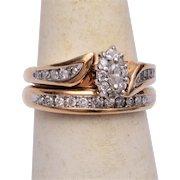 10kt Gold Wedding Set 5-1/2 – Wedding Ring and Engagement Ring
