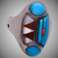 Sterling Navajo Inlaid Ring