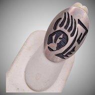 Hopi Sterling Badger Claw Ring Size 7