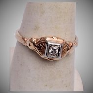 14kt Gold Ring with Diamond 6-1/4