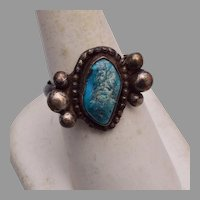 Sterling and Turquoise Ring size 8-1/2