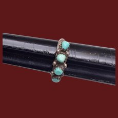 Sterling and Turquoise Ring size 5-1/2