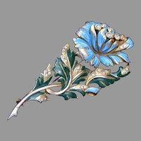 Deja Enameled Flower Brooch