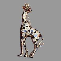 Swarovski Giraffe Brooch
