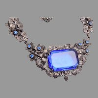 Old Blue Glass Necklace