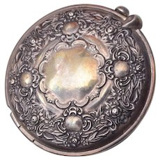 Beautiful Silver Plated Compact