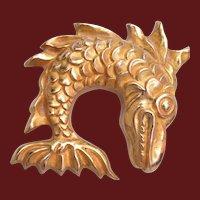 Arthus Bertrand Paris Bronze Fish Brooch
