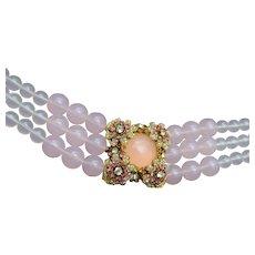 Mark Mercy Pink Choker Necklace