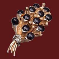 HAR Black Bouquet of Flowers Brooch
