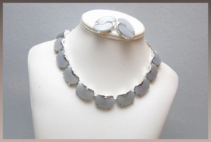 geometric silver clear lyst lucite jewelry in metallic necklace ben amun