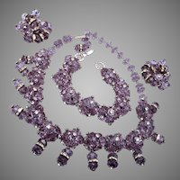Magnificent Simulated  Alexandrite Color Change Parure!