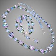 Beautiful Blue Crystal Vendome Parure