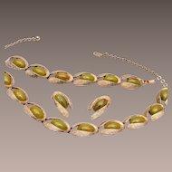 Charel Bakelite Necklace, Bracelet and Earring Set