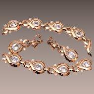 Trifari Pre 1955 Necklace, Bracelet and Earring Set
