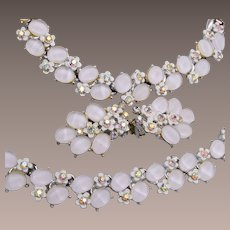 Beautiful BSK White Flower Parure